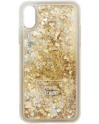 Opening Ceremony - Oc Logo Glitter Iphone Xs Case - Lyst