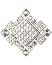 "Lanvin - Crystal ""diamond Square"" Brooch/necklace - Lyst"