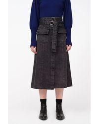Sea - Noir Denim Skirt - Lyst
