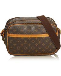 e51b9cca00 Lyst - Louis Vuitton Auth Monogram Reporter Pm Shoulder Bag Brown ...