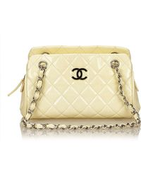 87ddfc343f5743 Lyst - Chanel Matelasse 2.55 Hw Double Chain Shoulder Bag Light Pink ...