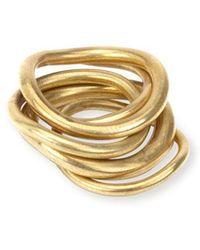Soko - Wavy Ring Stack - Lyst