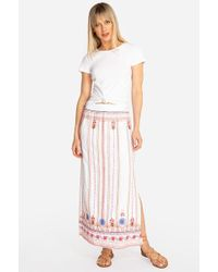 54049abbd Johnny Was - Frederique Side Slit Maxi Skirt - Lyst