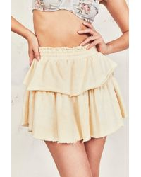 cbcb7998b2 LoveShackFancy Ruffle Mini Skirt in White - Lyst
