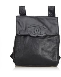 Chanel - Lambskin Leather Backpack - Lyst