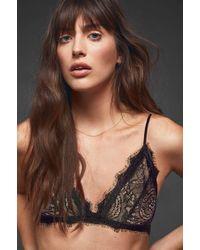 7562ddb9ea Lyst - Anine Bing Stretch-lace Soft-cup Triangle Bra
