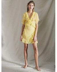 2584cb8185 Dolce   Gabbana Lemon Print Dress in Yellow - Lyst