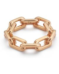 WALTERS FAITH - Saxon 18k Rose Gold Large Chain Link Ring - Lyst