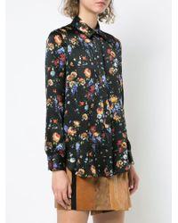 Adam Lippes - Floral Hammered Silk Menswear Shirt - Lyst