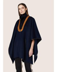 Derek Lam - Rib Neck Cape With Leather Detail - Lyst