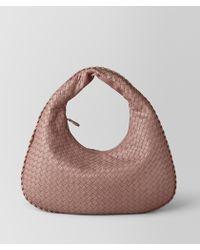 Bottega Veneta - Nero Intrecciato Nappa Medium Veneta Bag - Lyst