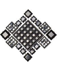 "Lanvin - Black ""diamond Square"" Brooch/necklace - Lyst"