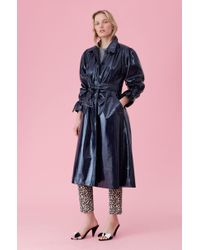 Rebecca Taylor - Laminated Trench Coat - Lyst