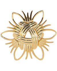Kenneth Jay Lane - Polished Gold Spray Pin - Lyst