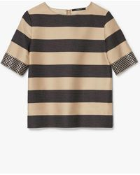 Derek Lam - Studded Cuff Stripe Top - Lyst