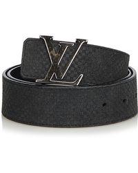 Louis Vuitton - Suede Initiales Belt - Lyst
