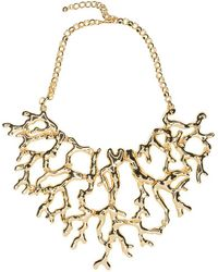 Kenneth Jay Lane - Polished Gold Coral Branch Necklace - Lyst