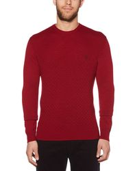 Original Penguin - Merino Basketweave Sweatshirt - Lyst