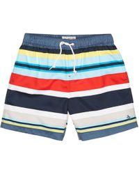Original Penguin - Stripe Print Elastic Volley Swim Short - Lyst