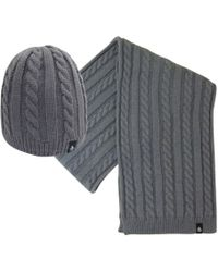Original Penguin - Cable Knit Beanie & Scarf Set - Lyst