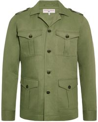 Orlebar Brown Bond Safari Jacket 007 Sage Jacket - Verde