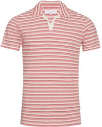 Orlebar Brown - Felix White/anemone Resort Polo - Lyst