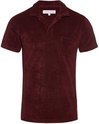 Orlebar Brown - Terry Garnet Towelling Resort Polo - Lyst