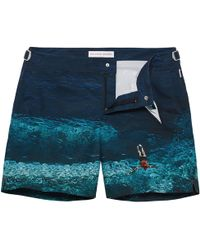 Orlebar Brown - Bulldog Mittellange Badeshorts, Deep Sea - Lyst