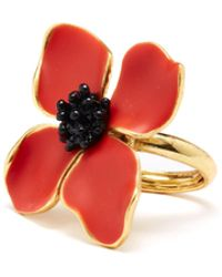 Oscar de la Renta - Cayenne Painted Flower Ring - Lyst