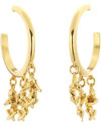 Oscar De La Renta No Evil Charm Drop Hoop Earrings mzqSW7z