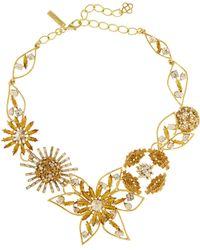 Oscar de la Renta - Jewelled Flower Necklace - Lyst