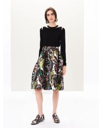 Oscar de la Renta - Jungle Jacquard Skirt - Lyst