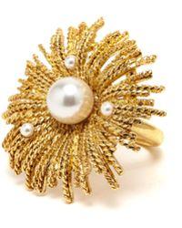 Oscar de la Renta - Gold Pearl Burst Ring - Lyst