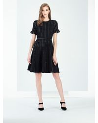 Oscar de la Renta - Pearl-stitched Knit Dress - Lyst