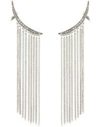 Oscar De La Renta Tendril Crystal Chandelier Earrings A12K1YgJc