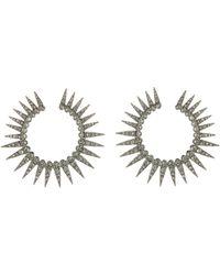 Oscar de la Renta - Crystal Large Pavé Sea Urchin Earrings - Lyst