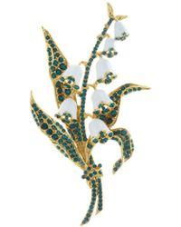Oscar de la Renta - Lily Of The Valley Brooch - Lyst