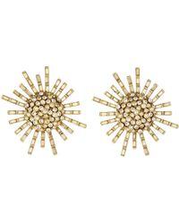 Oscar de la Renta - Jeweled Flower Earrings - Lyst