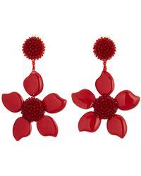 Oscar de la Renta - Bold Resin Flower Earrings - Lyst