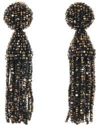Oscar de la Renta - Metallic Short Tassel Earrings - Lyst