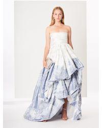 6d21662e99dcb Oscar de la Renta - Toile Du Jouy Silk-chine Gown - Lyst