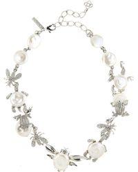 Oscar de la Renta - Pearl Critters Necklace - Lyst
