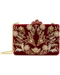 Oscar de la Renta - Embroidered Velvet Rogan Clutch - Lyst