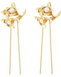 Oscar de la Renta - Pearl Flower Hair Pin - Lyst
