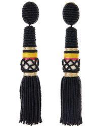 Oscar de la Renta - Thread Wrapped Tassel Earrings - Lyst