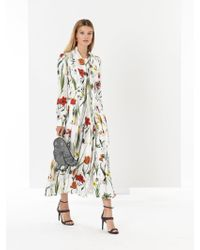 Oscar de la Renta - Flower Harvest Silk-twill Shirtdress - Lyst