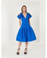 Oscar de la Renta - Draped Silk-faille Cocktail Dress - Lyst