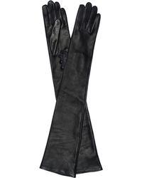 Oscar de la Renta - Leather Elbow-length Gloves - Lyst