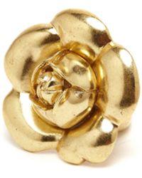 Oscar de la Renta - Gold Gardenia Flower Ring - Lyst