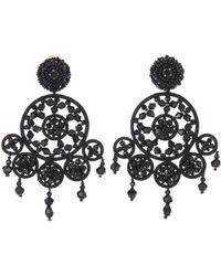 Oscar de la Renta - Beaded Dreamcatcher Earrings - Lyst